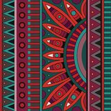 Abstract vector stammen etnisch patroon als achtergrond Stock Afbeeldingen