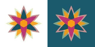 Abstract vector star logo. Geometric flower icon stock illustration