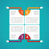 Abstract vector 4 steps infographic template in flat style for layout workflow scheme, numbered options, chart or diagram.  Stock Photo