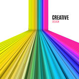Abstract vector straight lines background. Colorful modern design background Royalty Free Stock Images