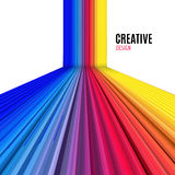 Abstract vector straight lines background. Colorful modern design background Royalty Free Stock Image