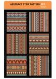 Abstract vector strip pattern set. Geometric stripe pattern vector wallpaper. editable illustration Stock Photo