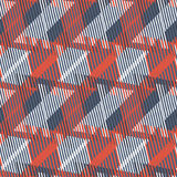 Abstract vector striped background. Abstract colorful pattern with stripes and geometric shapes. Seamless geometric modern print in red grey green colors. Modern Stock Images