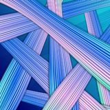 Abstract vector striped background on dark blue. For your web design Stock Photo