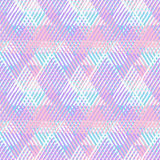 Abstract vector striped background. Vector seamless geometric pattern with striped triangle, abstract dynamic shape in bright color. Hand drawn background with Royalty Free Stock Photography