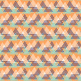 Abstract vector striped background. Vector seamless geometric pattern with striped triangles, abstract dynamic shapes in bright color. Hand drawn background with Royalty Free Stock Image