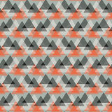 Abstract vector striped background. Vector seamless geometric pattern with striped triangles, abstract dynamic shapes in bright color. Hand drawn background with Stock Photography