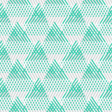 Abstract vector striped background. Vector seamless geometric pattern with striped triangles, abstract dynamic shapes in pastel colors. Hand drawn background royalty free illustration