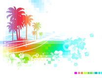 Abstract vector summer Royalty Free Stock Photo