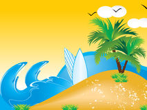 Abstract vector summer holiday background. Vector illustration Royalty Free Stock Photos