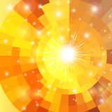 Abstract vector sunrise circle Royalty Free Stock Photography