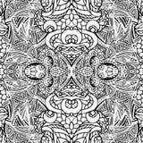 Abstract vector swirl ethnic seamless pattern.Symmetry Stock Photo