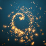 Abstract vector swirl of glowing particles. Futuristic technology style. Stock Image