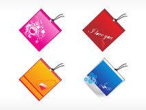 Abstract vector tags illustration Stock Images