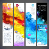 Abstract vector template banners Royalty Free Stock Images