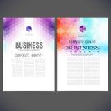 Abstract vector template design, brochure Stock Photo