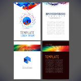 Abstract vector template design, brochure Royalty Free Stock Images