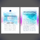 Abstract vector template design, brochure Royalty Free Stock Image