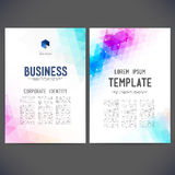 Abstract vector template design, brochure Royalty Free Stock Photo