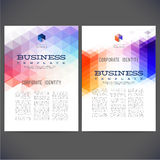 Abstract vector template design, brochure Royalty Free Stock Photography