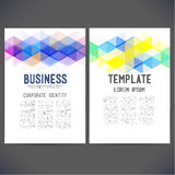 Abstract vector template design, brochure vector illustration