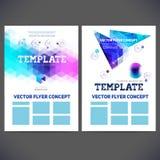 Abstract vector template design, brochure Stock Photos