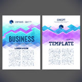 Abstract vector template design, brochure, Web sites, page Royalty Free Stock Photos
