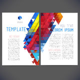 Abstract vector template design Royalty Free Stock Photo