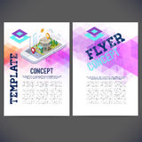 Abstract vector template design, brochure, Web sites, page, leaflet. Royalty Free Stock Image