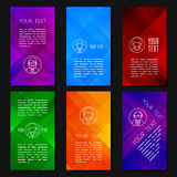 Abstract vector template design with colorful geometric backgrounds. Abstract vector template design, brochures, web sites and apps design template, mobile Stock Images