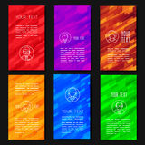 Abstract vector template design with colorful geometric backgrounds. Stock Photos