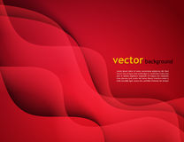 Abstract vector template design with colorful red waves backgrounds. Abstract vector template design, brochure, Web sites,  leaflet, with colorful red waves Stock Photography