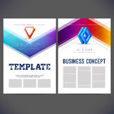 Abstract vector template design corporate style Stock Photos