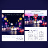 Abstract vector template design flyer Royalty Free Stock Photography