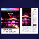 Abstract vector template design flyer, Royalty Free Stock Image