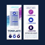 Abstract vector template flat design, flyer brochure Stock Image