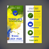 Abstract vector template flat design, flyer brochure Royalty Free Stock Images