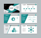Abstract vector template presentation slides background design Royalty Free Stock Images