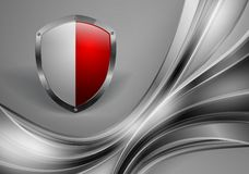 Abstract vector template with shield Stock Image