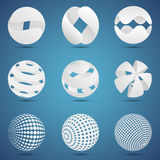 White 3d spheres Stock Photo