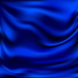 Abstract Vector Texture, Blue Silk Royalty Free Stock Photo