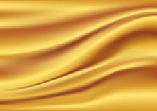 Abstract Vector Texture, Golden silk Royalty Free Stock Image