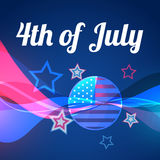 Abstract vector 4th of july Royalty Free Stock Images