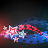 Abstract vector 4th of july. Background Vector Illustration