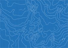 Abstract vector topographic map in blue colors stock images
