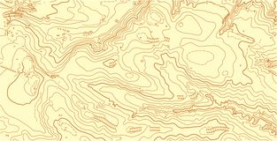 Abstract vector topographic map in brown colors stock images