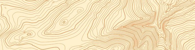 Abstract vector topographic map in brown colors stock photos