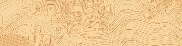 Abstract vector topographic map in brown colors stock photography