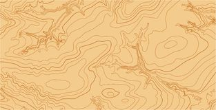Abstract vector topographic map in brown colors Royalty Free Stock Photography