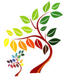 Abstract vector tree. Colorful abstract tree vector illustration Stock Photo